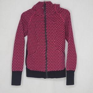 Lululemon Scuba Hoodie 4 Checkered Pink Jacket